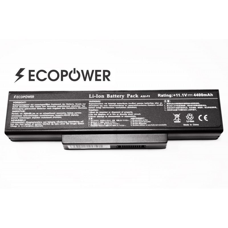 Asus A32-F3 EcoPower 6 celių 4400mah baterija