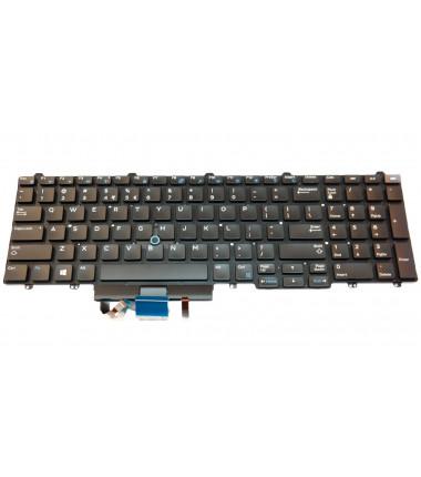 Dell Latitude E5550 E5570 5580 / Precision 15 7510 3510 17 7710 Us klaviatūrą su pašvietimu
