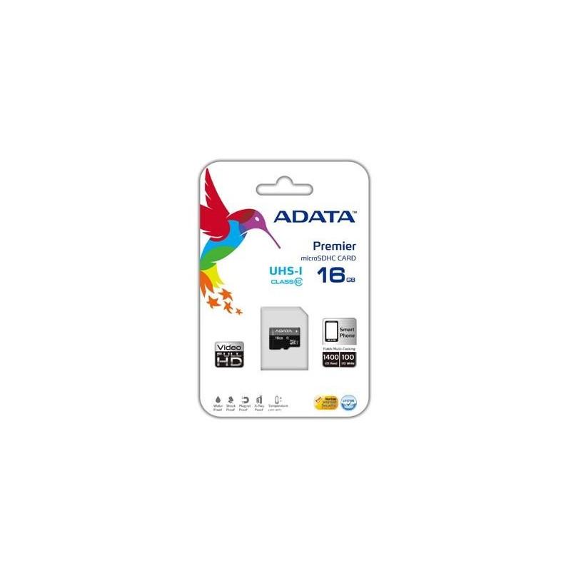 ADATA Premier UHS-I 16GB, MicroSDHC atminties kortelė