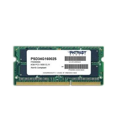 Patriot DDR3 Sodimm 4GB/1600 CL11