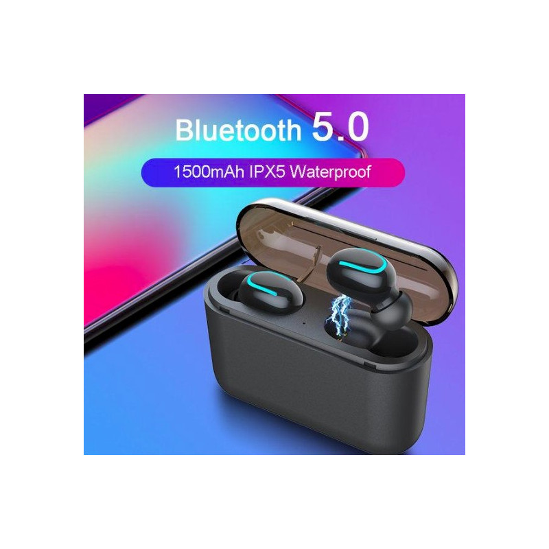 Belaidės ausinės HBQ-Q32 TWS, V5.0+EDR, juodos