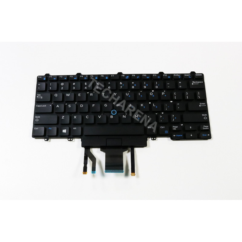 "Dell Latitude E5450 US klaviatūra su ""trackpointu"" ir pašvietimu"