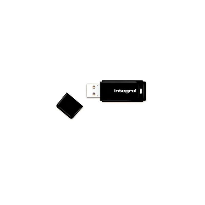 INTEGRAL Pendrive USB2.0 8GB, juoda atmintinė
