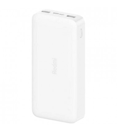 Xiaomi Redmi Fast Charge Power Bank 20000 mAh, White, 18 W Išorinė baterija, balta