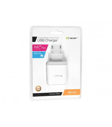 TRACER TRAADA46215 Fast charge QC 3.0 baltas įkroviklis