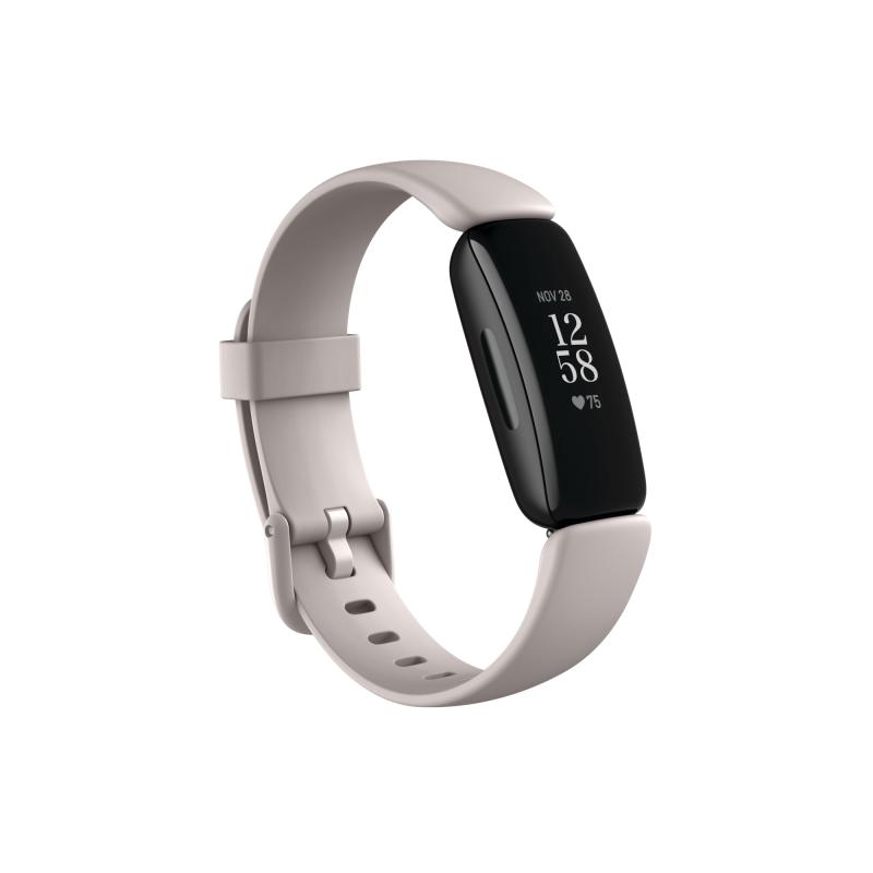 Fitbit Inspire 2 Fitness tracker, Lunar White/Black Fitbit Inspire 2 Smart watch, GPS (satellite), OLED, Touchscreen, Heart rate