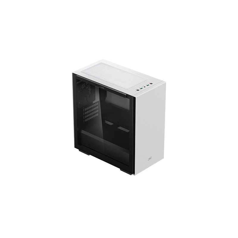 Deepcool MACUBE 110 WH White, ATX, 4, USB3.0x2, Audiox1, ABS+SPCC+Tempered Glass, 1×120mm DC fan