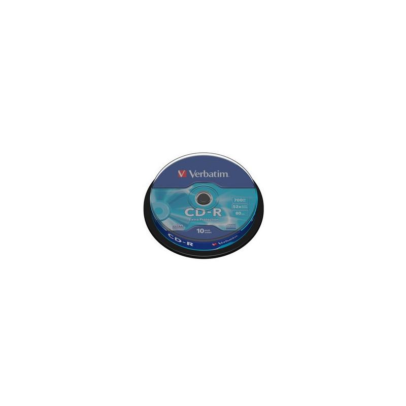 Verbatim CD-R 52x 700Mb 80min, 10vnt dėžutėje