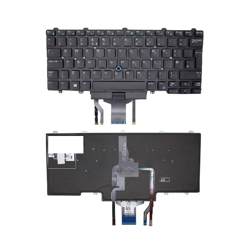 Dell K9V28 Latitude E5450 E5470 originali klaviatūra su pašvietimu UK