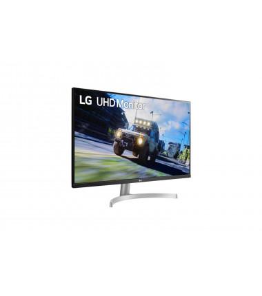 "LG Monitor with FreeSync 32UN500-W 31.5 "", VA, 4K UHD, 3840 x 2160 pixels, 16:9, 4 ms, 350 cd/m², Black/Silver/White"