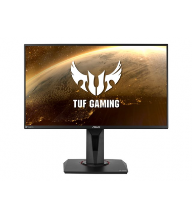 "Asus TUF Gaming VG258QM 24.5 "", TN, FHD, 1920 x 1080 pixels, 16:9, 0.5 ms, 400 cd/m², Black, 1 x DisplayPort 1.2, 2 x HDMI 2.0"