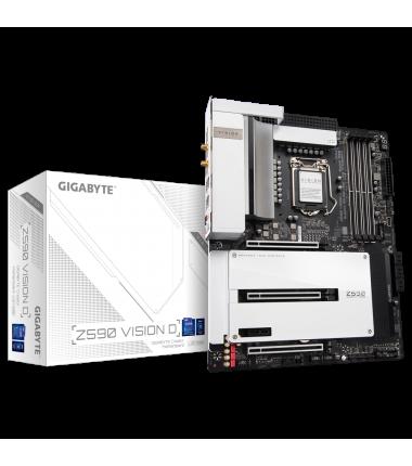 Gigabyte Z590 VISION D 1.0 M/B Processor family Intel, Processor socket LGA1200, DDR4 DIMM, Memory slots 4, Supported hard disk