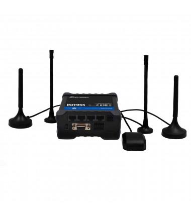Teltonika Industrial Router 4G LTE DualSIM RUT955 (RUT955T03520) 802.11n, 10/100 Mbit/s, Ethernet LAN (RJ-45) ports 4, 2G/3G/4G
