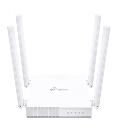 TP-LINK Dual Band Router Archer C24 802.11ac, 300+433 Mbit/s, 10/100 Mbit/s, Ethernet LAN (RJ-45) ports 4, MU-MiMO Yes, Antenna