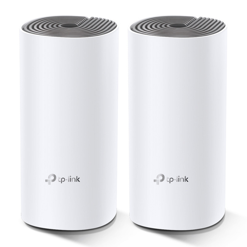 TP-LINK C1200 Whole Home Mesh Wi-Fi System Deco E4 (2-pack) 802.11ac, 867+300 Mbit/s, 10/100 Mbit/s, Ethernet LAN (RJ-45) ports