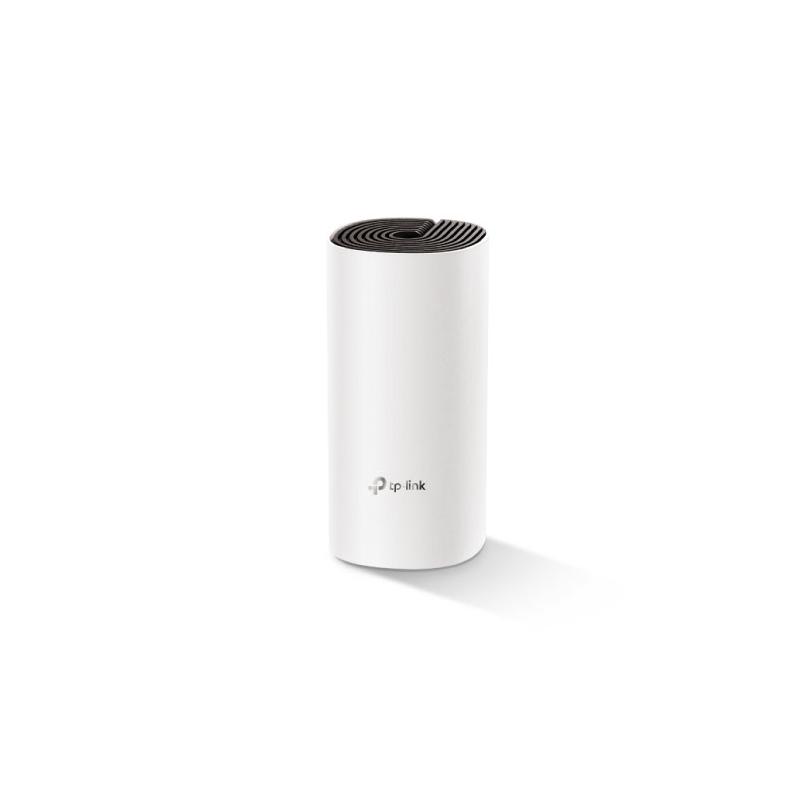 TP-LINK Whole Home Mesh Wi-Fi System Deco E4 (1-pack) 802.11ac, 867+300 Mbit/s, 10/100 Mbit/s, Ethernet LAN (RJ-45) ports 2, Me