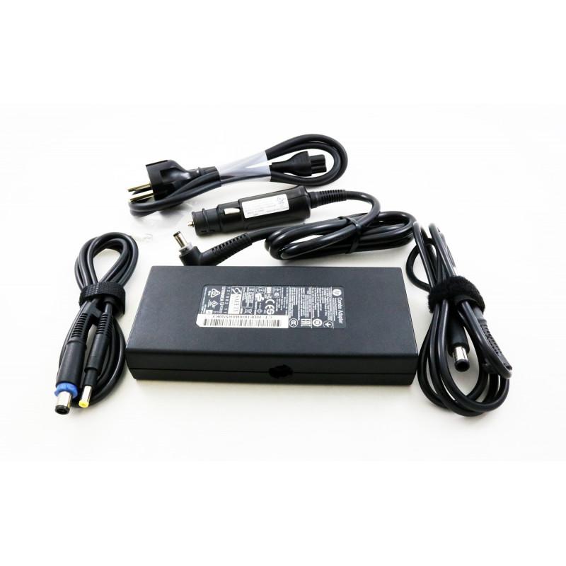 Hp Slim Combo universalus automobilinis ir buitinis įkroviklis (2 in 1) 90w + USB (RFB)