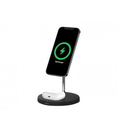 Belkin Pro MagSafe 2in1 Wireless Charging Stand + AC Power Adapter BOOST CHARGE Black