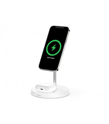 Belkin Pro MagSafe 2in1 Wireless Charging Stand + AC Power Adapter  BOOST CHARGE White