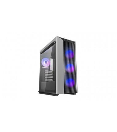 Deepcool CL500 4F Black/Grey, ATX, 7, USB 3.0 Type-A x 2, Audio x 1, ABS+SPCC+Tempered Glass, 1 × 120mm A-RGB fan