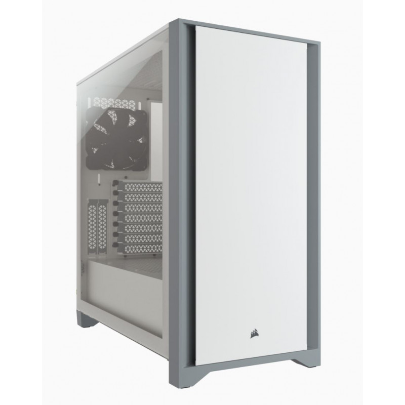 Corsair Tempered Glass Mid-Tower ATX Case 4000D Side window,  Mid-Tower, White, Power supply included No, Steel, Tempered Glass,