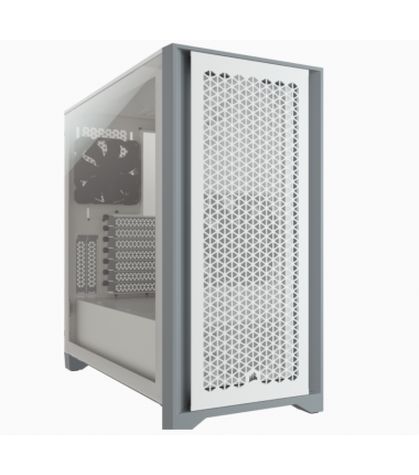 Corsair Computer Case 4000D Side window, White, ATX, Power supply included No
