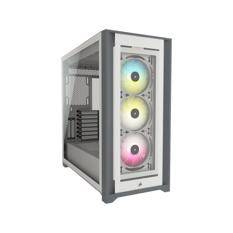 Corsair ATX PC Smart Case 5000X RGB Side window, White, Mid-Tower, Power supply included No