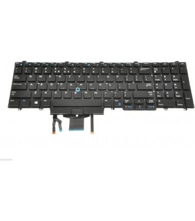 Dell TF5M0 originali klaviatūra su pašvietimu US