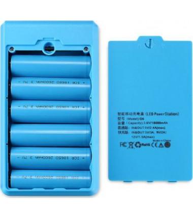 fast charge Išorinės baterijos powerbanko žydras korpusas