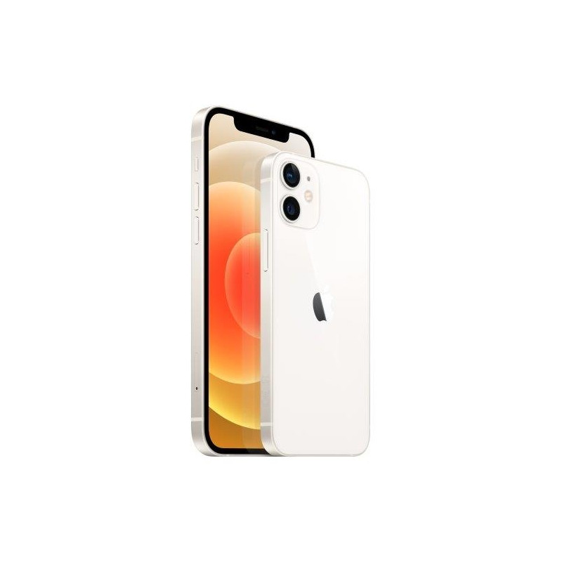"""Apple iPhone 12 mini White, 5.4 """", Super Retina XDR OLED, 1080 x 2340 pixels, Apple, A14 Bionic, Internal RAM 4 GB, 64 GB, Singl"""