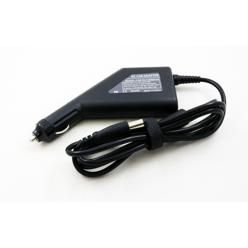 Dell Inspiron 15 3520 3521 19.5v 3.34a 7.4*5.0 automobilinis įkroviklis 65w + USB fast charge