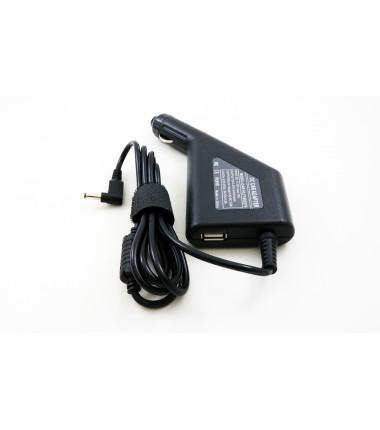 Asus F553MA UX305UA D553MA X553MA 19v 2.37a 4.0*1.35 automobilinis įkroviklis 45w + USB fast charge