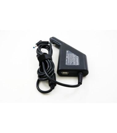 Hp 19.5v 2.31a 4.5*3.0 (su adata) automobilinis įkroviklis 45w + USB fast charge