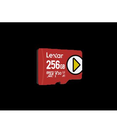 Lexar Play UHS-I MicroSDXC, 256 GB, Flash memory class 10, Red, 150 MB/s