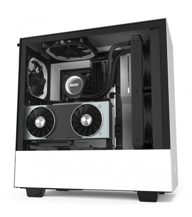NZXT H510i Side window, White/Black, ATX, Power supply included No