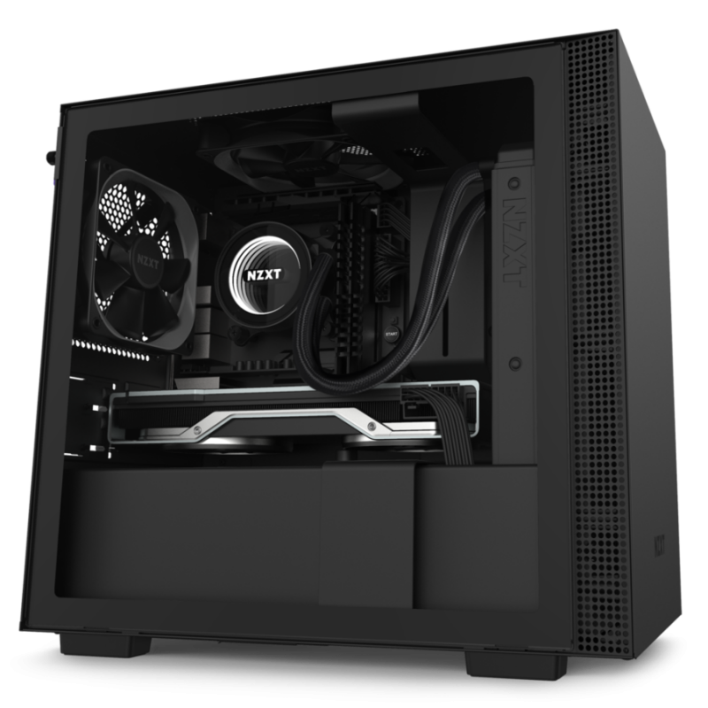 NZXT H210 Side window, Black/Black, Mini ITX, Power supply included No