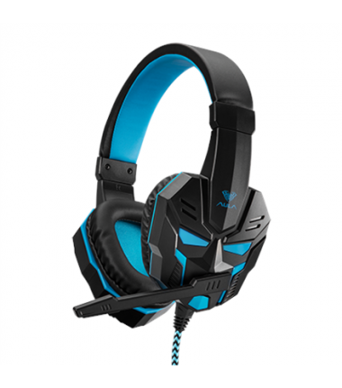 Aula 3.5 mm, Prime Basic Gaming Headset, Black/blue, Built-in microphone