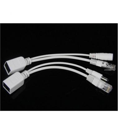 Gembird PP12-POE-0.15M-W UTP passive PoE adapter kit, White, 0.15 m