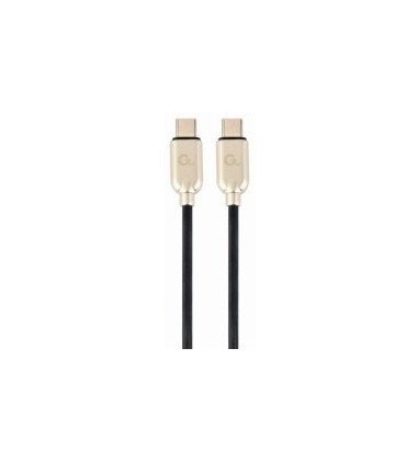 Gembird 60 W Type-C Power Delivery (PD) charging and data cable CC-USB2PD60-CMCM-1M 1 m, Black, USB Type-C, USB Type-C