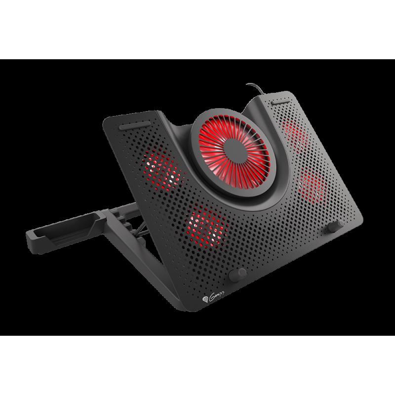 GENESIS Laptop cooling pad, OXID 550 15.6-17.3 5 FANS, LED LIGHT, 1 USB