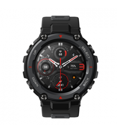 Amazfit T-Rex Pro Smart watch, GPS (satellite), AMOLED Display, Touchscreen, Heart rate monitor, Activity monitoring 24/7, Water