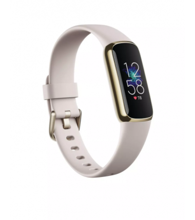Fitbit Luxe Fitness tracker, Touchscreen, Heart rate monitor, Waterproof, Bluetooth, Soft Gold/Porcelain White