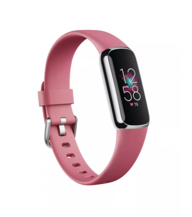 Fitbit Luxe Fitness tracker, Touchscreen, Heart rate monitor, Activity monitoring 24/7, Waterproof, Bluetooth, Platinum/Orchide