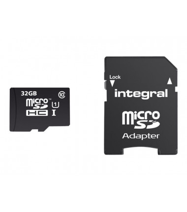 INTEGRAL Micro SDXC Cards CL10 32GB Ultima Pro UHS-1 up to 90MB/s transfer atminties kortelė + adapter