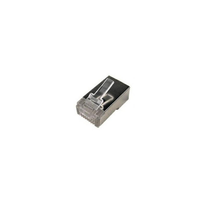 Logilink MP0003 CAT5e Modular PlugSuitable for 8P8C Round CableConnector shieldedGold-plated contacts