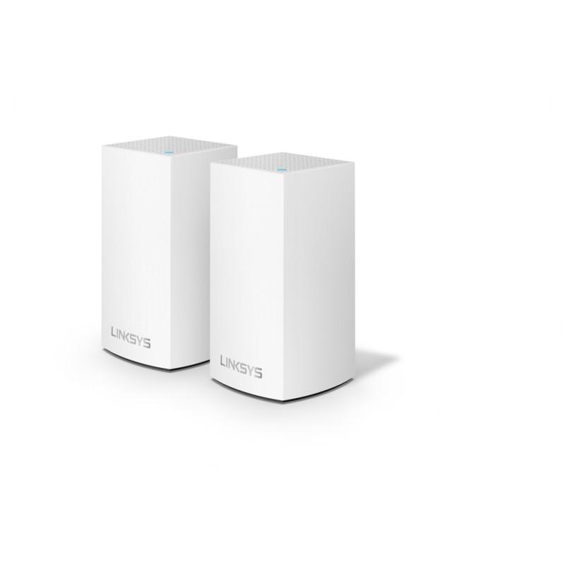 Linksys WHW0102 Velop Intelligent Mesh WiFi System, 2-Pack 802.11ac, 400+867 Mbit/s, 10/100/1000 Mbit/s, Ethernet LAN (RJ-45) po