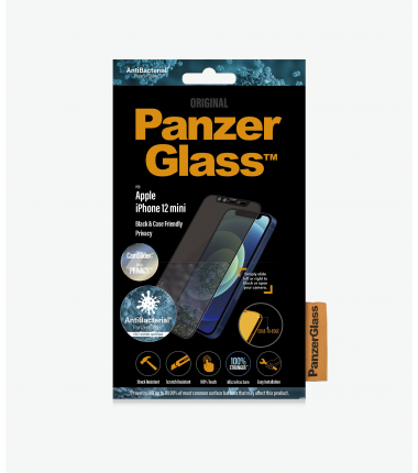 PanzerGlass CamSlider Privacy AB Apple, iPhone 12 mini, Tempered glass, Black, Privacy glass, Case friendly