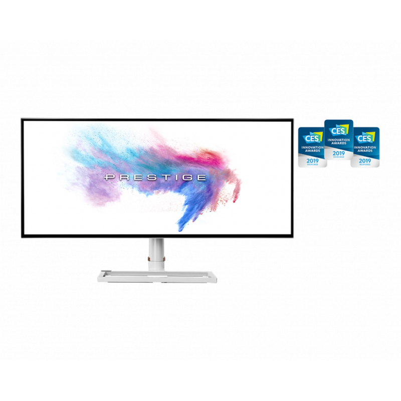 "MSI Gaming Monitor Prestige PS341WU 34 "", IPS, WUHD, 5120 x 2160, 21:9, 8 ms, 600 cd/m², White, HDMI ports quantity 2"