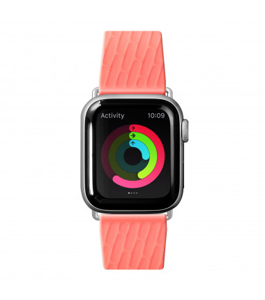 LAUT ACTIVE 2.0, Sport Watch Strap for Apple Watch, 38/40mm, Ergonomic fit, Easy lock, Easy Clean, Coral, Sport Polymer Material