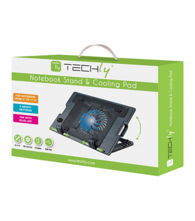 TECHLY 106244 Techly Notebook computer cooling pad and adjustable stand, up to 17.3